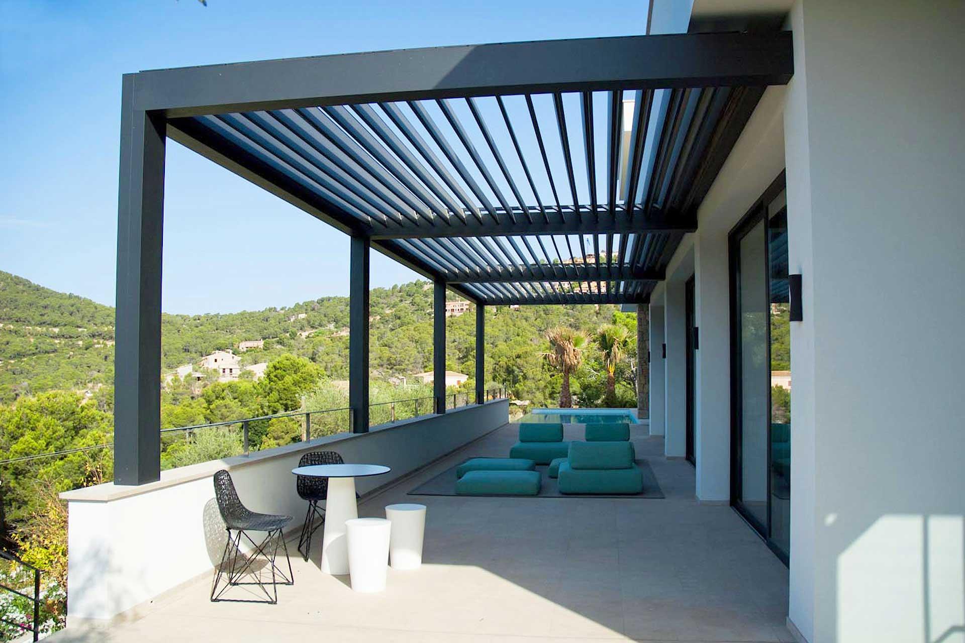 precios de toldos de terraza pergolas para terrazas precios finest pergolas con toldo